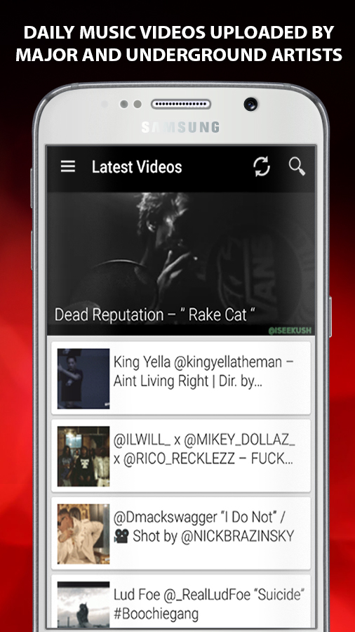 Daily Music Videos uploaded by major and underground artists